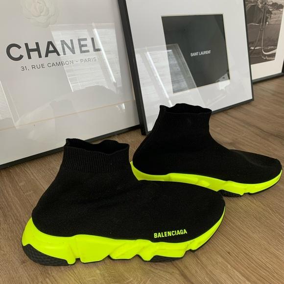 neon balenciaga sneakers
